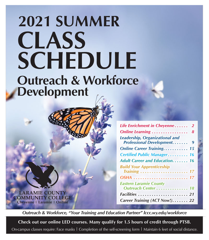 2021 Summer Class Schedule for Outreach and Workforce Development
